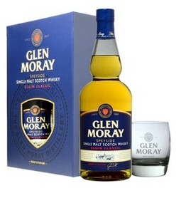 GIFT WHISKY GLEN MORAY + 2 BICCHIERI