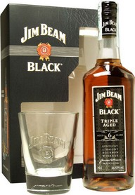 GIFT WHISKY JIM BEAM BLACK LABEL + 1 BICCHIERE