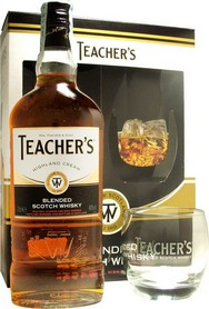 GIFT WHISKY TEACHER'S SCOTCH + 1 BICCHIERE